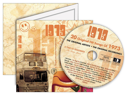 1973 Classic Years Greeting Card with Hit Songs, Download Code and retro CD
