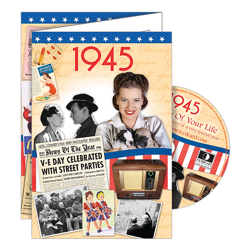 1945 Year Of Birth Greeting Card with DVD