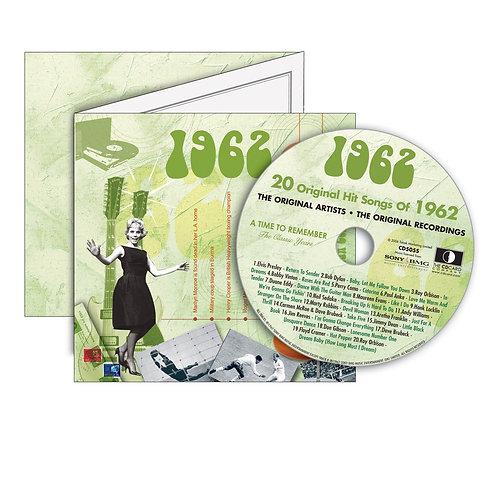 1962 Classic Years - Year Of Birth Music Downloads Greeting Card + Retro CD