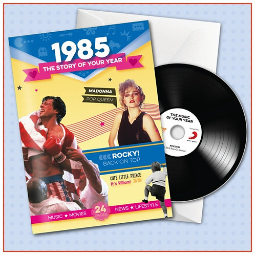 1985 Booklet card with CD and music download