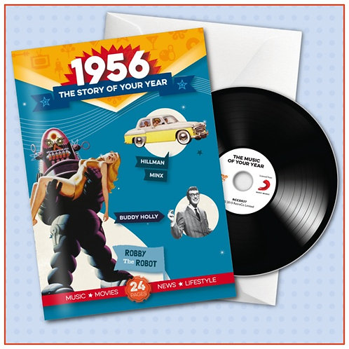 1956 Booklet Card with CD and music download