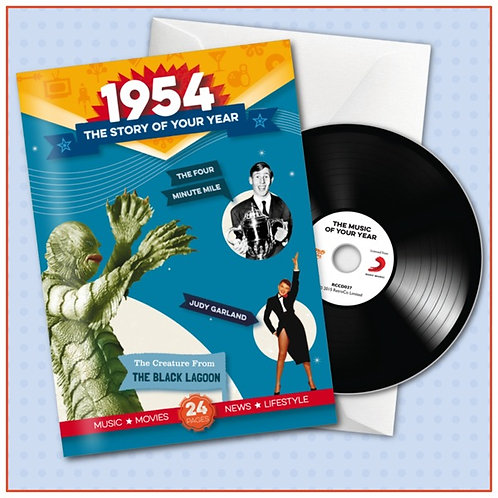 1954 Booklet Card with CD and music download