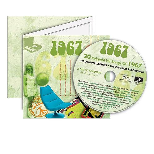 1967 Classic Years - Year Of Birth Music Downloads Greeting Card + Retro CD