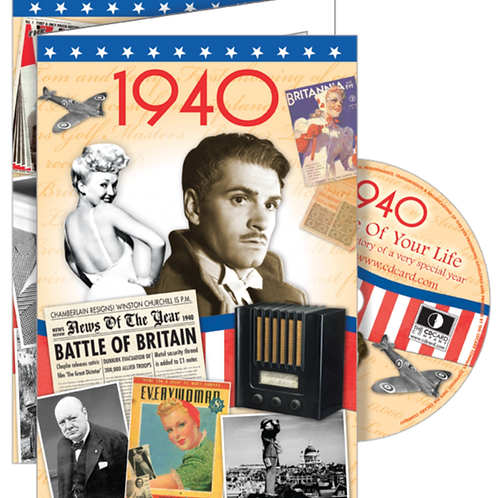1940 The Time Of Your Life Greeting Card with DVD