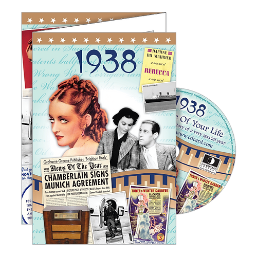 1938 Year Of Birth Greeting Card with DVD