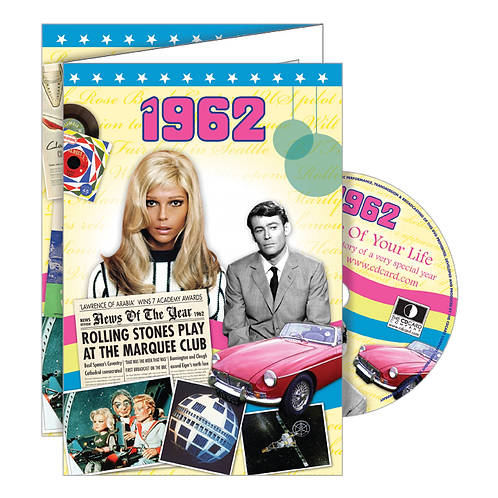 1962 Year Of Birth Greeting Card with DVD