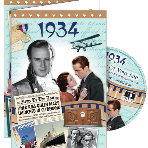 1934 The Time Of Your Life Greeting Card with DVD