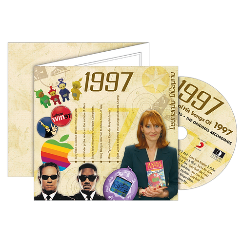 1997 Classic Years - Year Of Birth Music Downloads Greeting Card + Retro CD