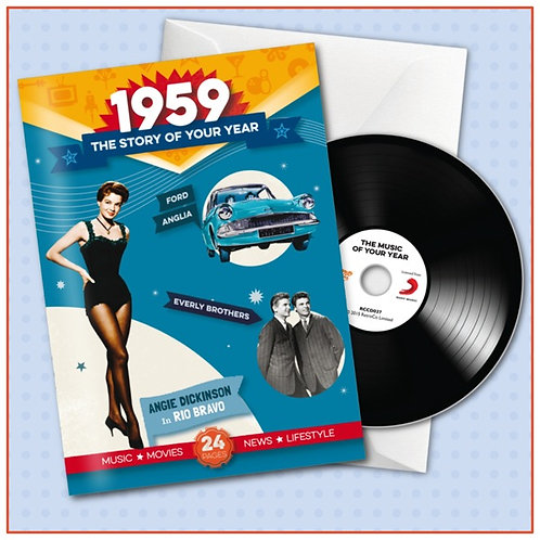 1959 Booklet Greeting Card with Hit Songs, Download Code and CD