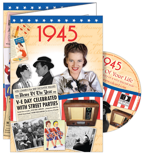 1945 The Time Of Your Life Greeting Card with DVD