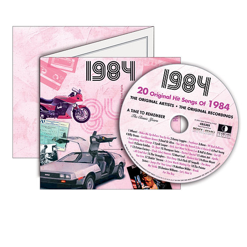 1984 Classic Years Greeting Card with Hit Songs, Download Code and retro CD