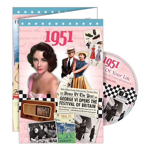 1951 Year Of Birth Greeting Card with DVD