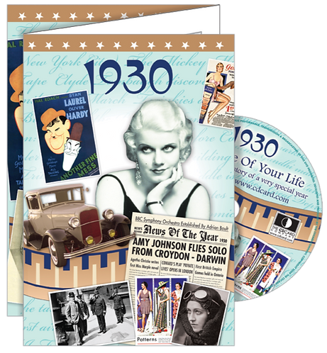 1930 The Time Of Your Life Greeting Card with DVD