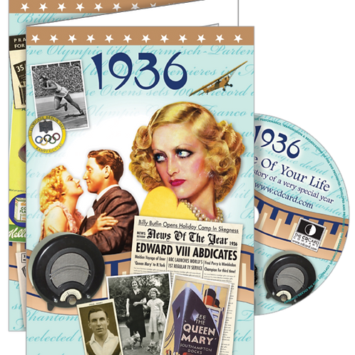 1936 The Time Of Your Life Greeting Card with DVD