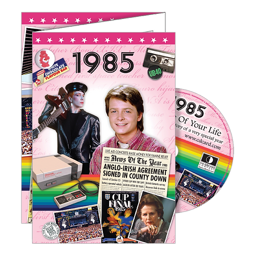 1985 Year Of Birth Greeting Card with DVD