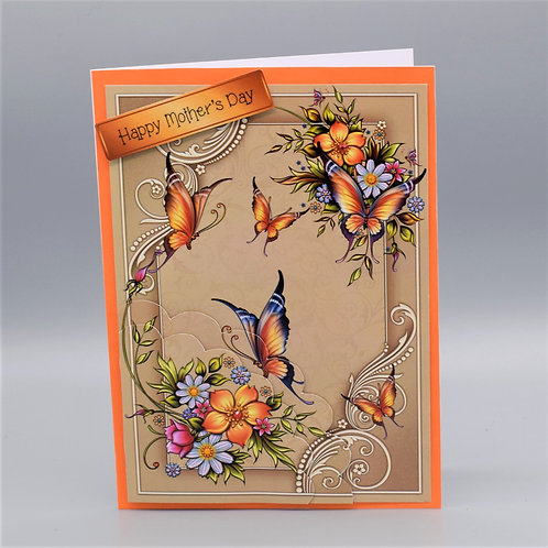 Pretty Decoupage Mother's Day Card Card 15 x21cm