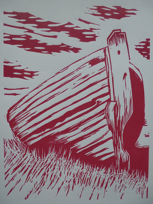Drying Out. lino print Hand printed edition 1/5