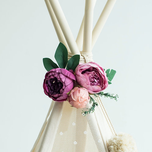 Garland with Flowers, Teepee Topper from Peonies Garland
