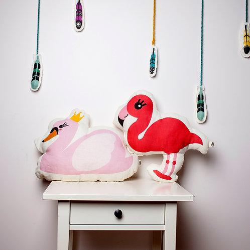 Flamingo kids pillows by MINICAMP