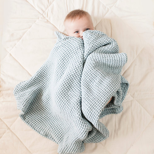 Linen Baby Wrap in Baby Blue by MINICAMP