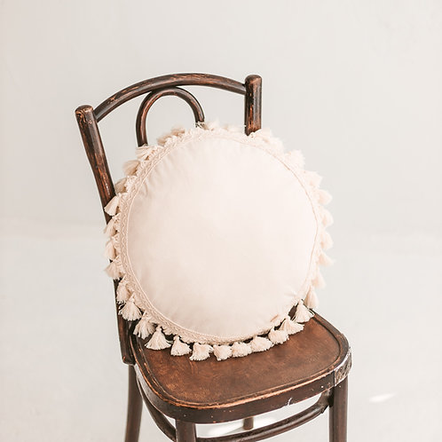 Round Cushion with Tassels