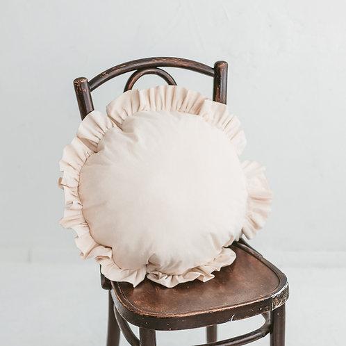 Ruffled Decorative Cushion