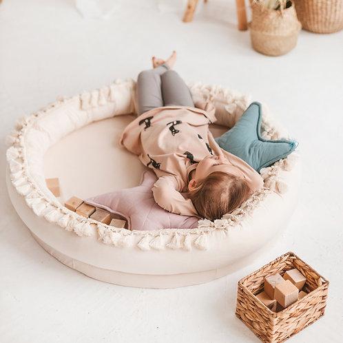 Large Play & Sleep Baby Nest - Round Kids Lounger