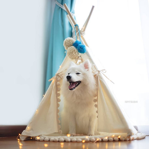 Dog Bed, Modern Dog Teepee 100% Handmade with Double Side Mat