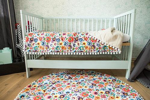 Floral Baby Blanket, Toddler Blanket for Toddler Bedding, Toddler Bed Cover