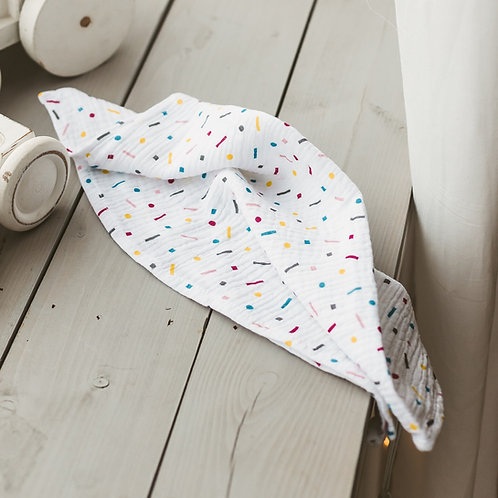 Confetti Baby Swaddles and Burp Cloths from Ultra soft and Breathable Muslin
