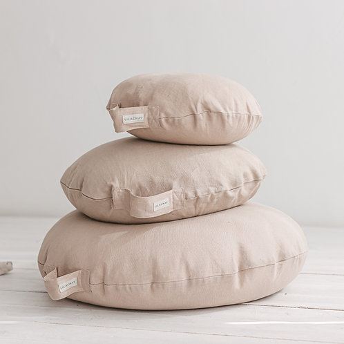 Beige Yoga Pillows