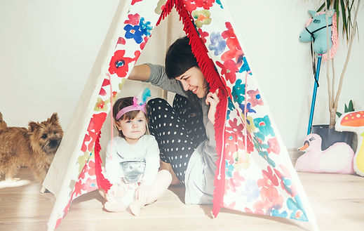 Girls teepee tent by Minicamp