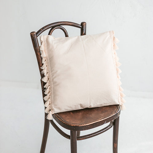 Square Decorative Cushion with Tassels
