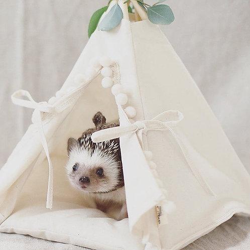 Hedgehog Bed, Hedgehog Teepee in Beige