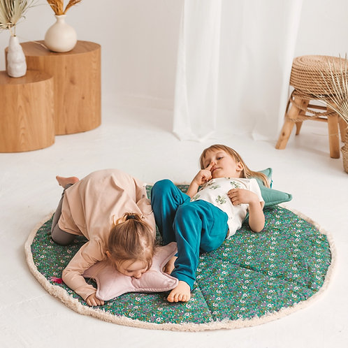 Kids Play Rug in Green - Tummy Time Mat