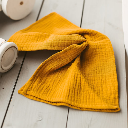 Mustard Baby Swaddles and Burp Cloths from Ultra soft Muslin