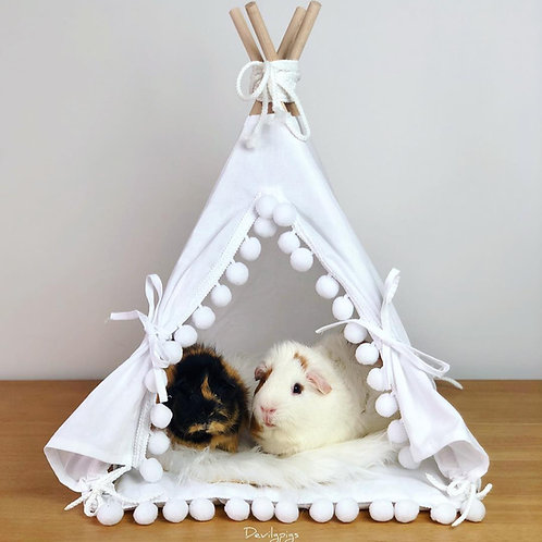 Guinea Pig Teepee with a Soft Pad, Guinea Pig Bed, Rat Bed, Chinchilla Bed minicamp