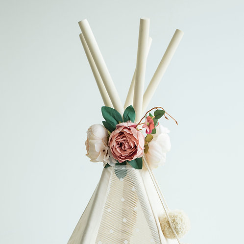 Floral Nursery Decoration, Teepee Topper from Artificial Flowers