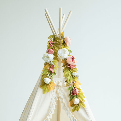 Boho Flower Garland for Teepee Decoration