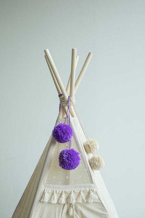 Handmade Pom Poms Accessory for Teepee Decoration