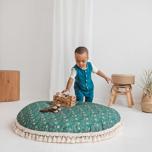 Large Floor Pillow for Kids Reading Nook in Green