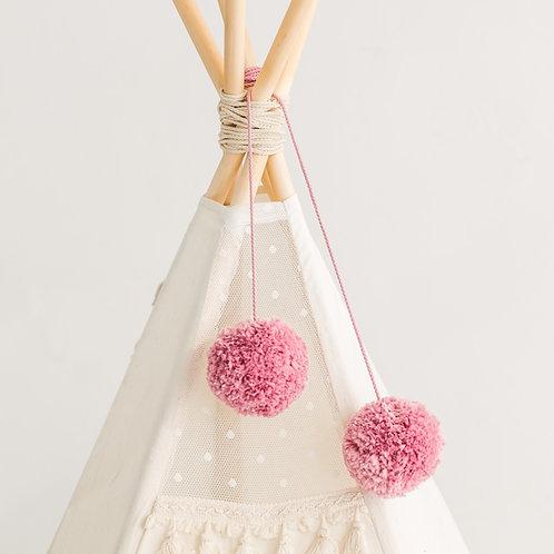 Bubblegum Color Handmade Pom Poms for Nursery Decoration