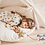 Thumbnail: Kids Teepee Play Tent in Beige with Pom Pom Decor