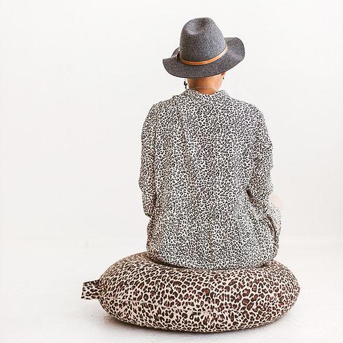 Leopard Floor Pillow - Animal print Meditation Cushion