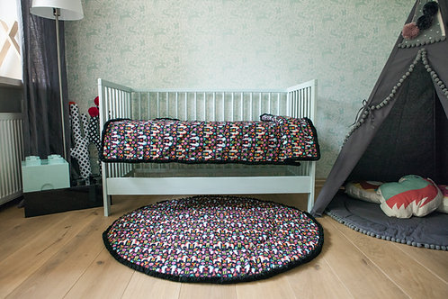 Handmade Crib Bedding with Horse Pattern, Bed Cover from 100 % Cotton