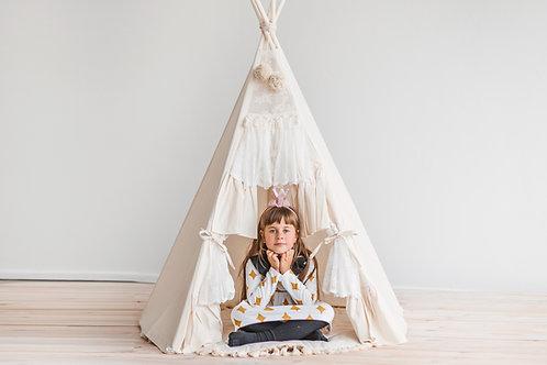 Teepee Tent for Kids by Minicamp Boho Kids tipi Tee pee with Curtains Decor