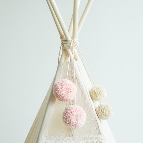 pink teepee topper