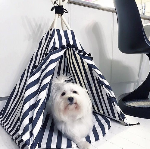 Dog bed, Teepee for Dog in Stripped Theme by MINICAMP