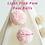 light pink pom poms decor