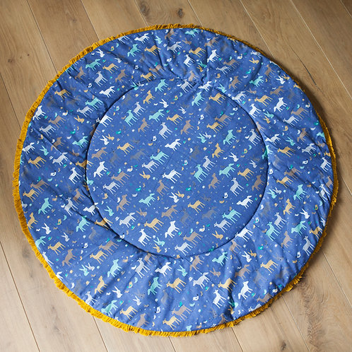 Soft Play Mat for Babies with Forest Animals